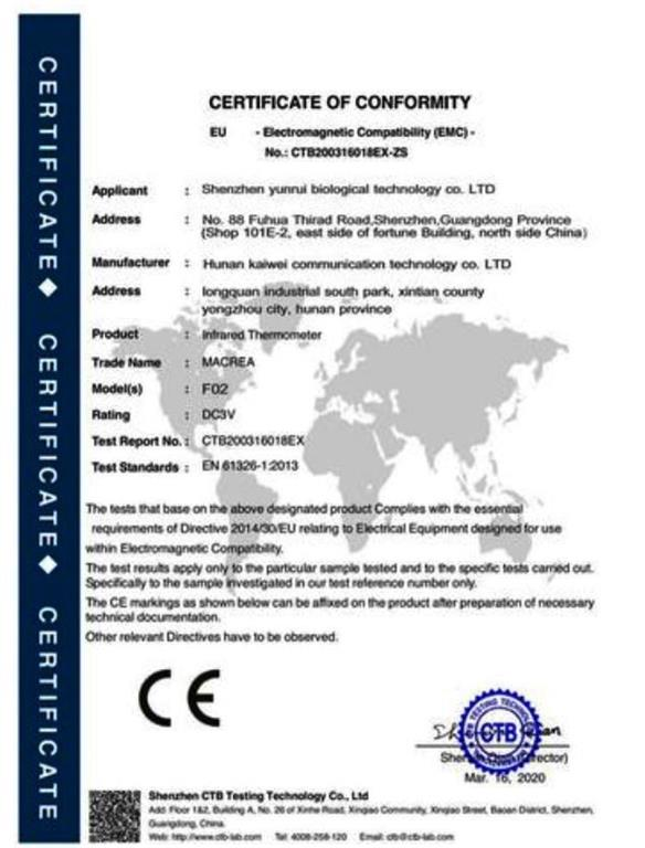 lemedical00 NO F02 certification Zonemarket